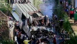 Kecelakaan Maut Bus Masuk Jurang di Bogor - Jakarta
