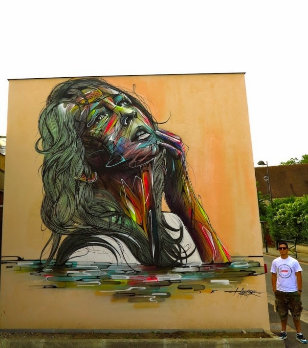 The Best Examples Of Street Art In 2012 And 2013 - By Hopare, Orsay, France