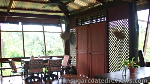 dining room at the Partoza Durian Farm