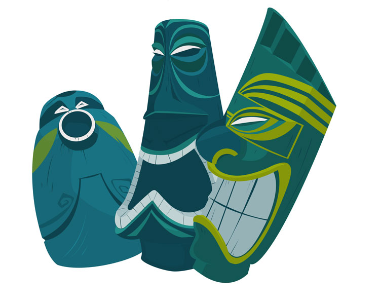 Finding nemo aquarium volcano tiki pictures to pin on for Blue fish dental