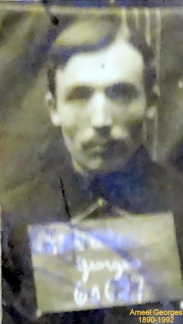 Ameel Georges 1890-1992, oud-strijder en vuurkruiser 1914-1918.Foto legerarchief Evere