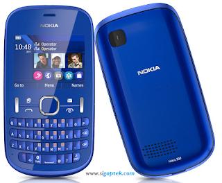 harga nokia asha 200, spesifikasi nokia dual sim asha 200, handphone qwerty dual stadby