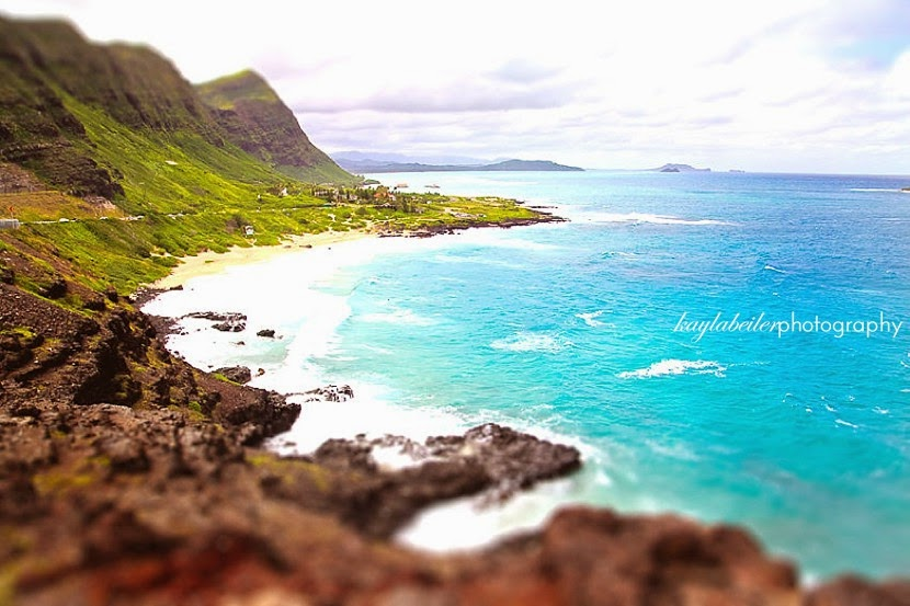 tilt shift hawaii photo