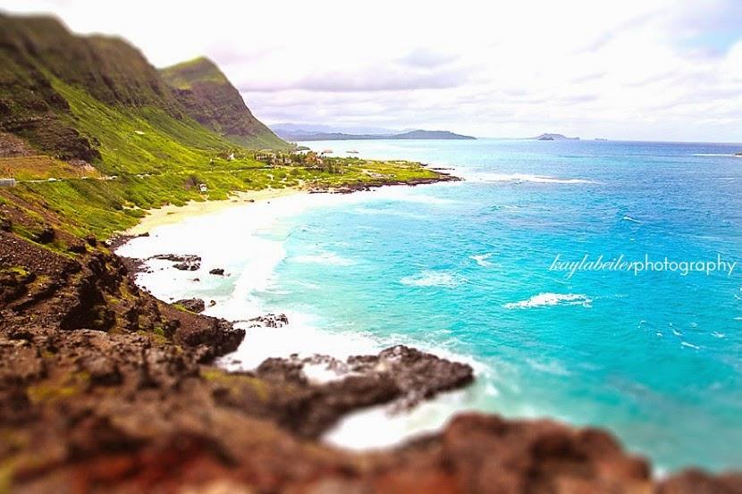 tilt shift hawaii photo