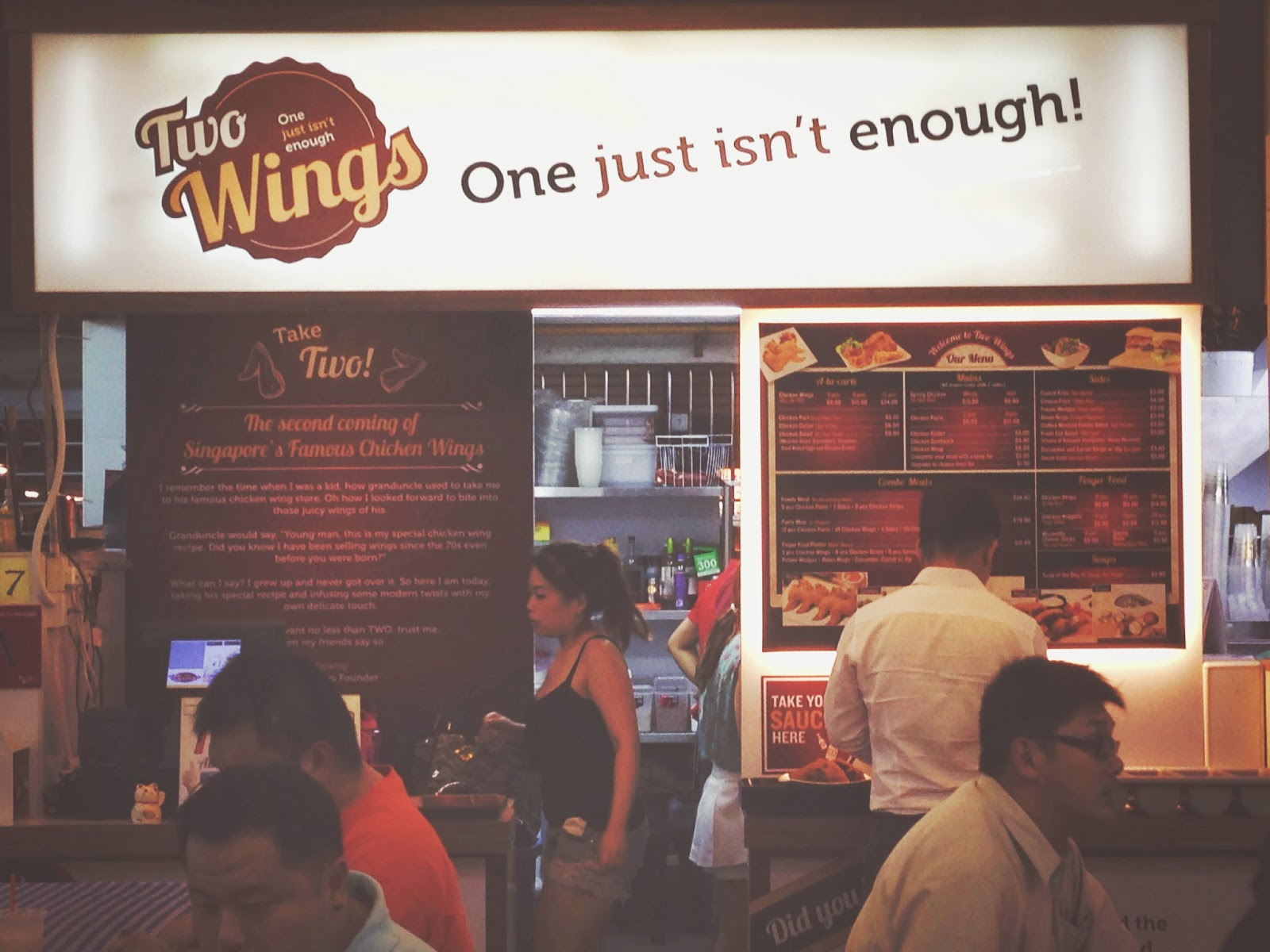 Two Wings at Salute Coffeeshop in Bukit Merah
