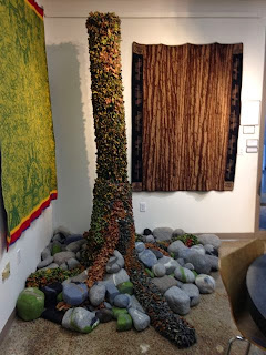 tree of life and felt rocks at Minnesota Textile Center