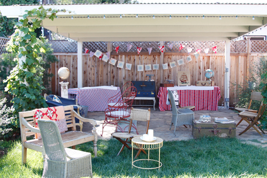 The Party Was A Nautical Theme And We Hosted In Backyard It Started At 7 But Here Is Photo From Earlier Day When Were Setting Up