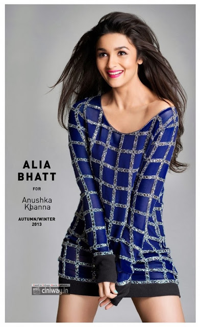 Alia Bhat Photo Shoot for Anushka Khannas Autunum Winter Sports Wear 2013