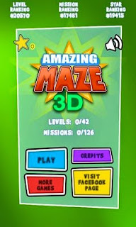 Screenshots of the Amazing Maze 3D Deluxe for Android tablet, phone.