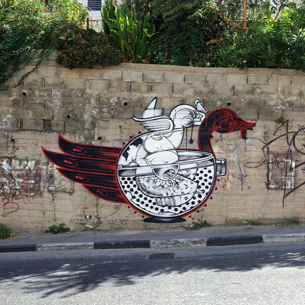 Street Art Duo How Nosm In Palestine Where They Painted Several New Pieces. 7