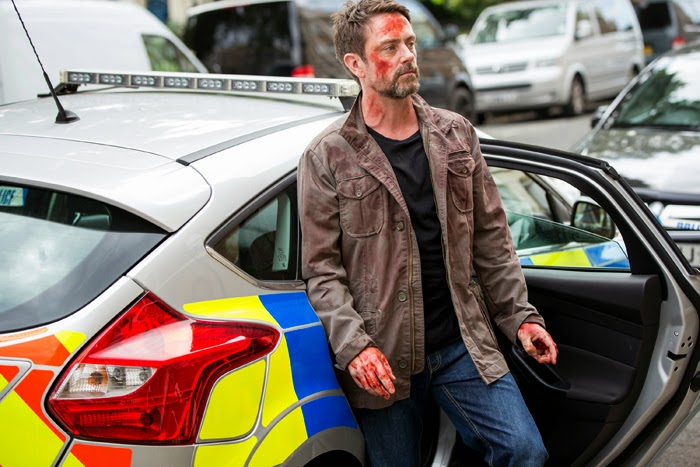 Suspects: Saul (Dominic Power) waits to be interviewed by the police