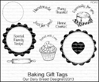 Our Daily Bread designs stamps, Baking Gift Tags