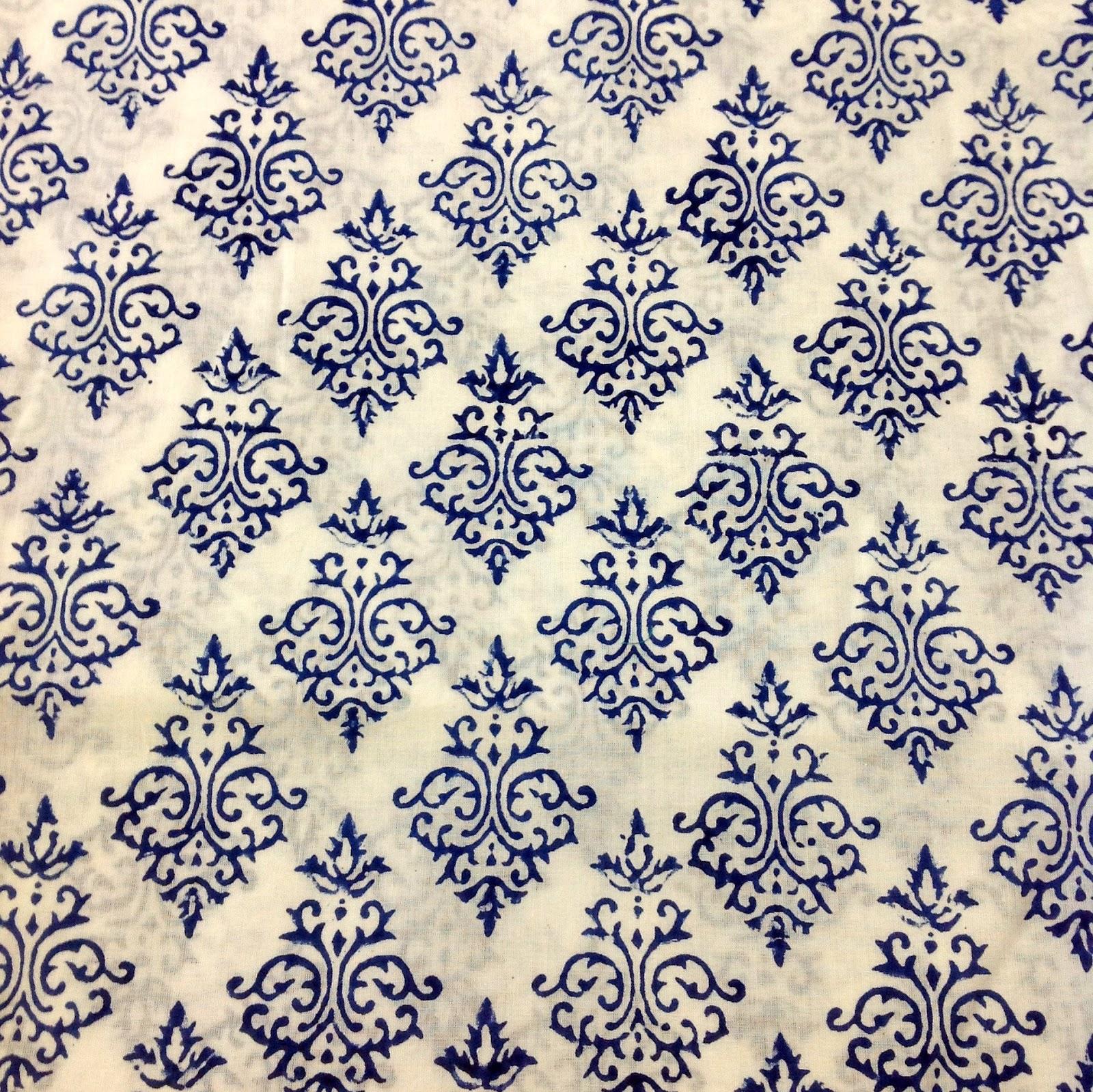 Desicrafts Indian Block Print Fabric Organic Cotton