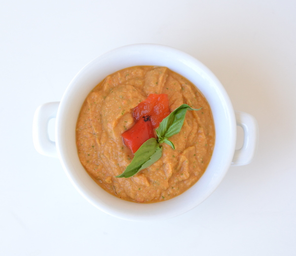 Roasted Red Pepper Hummus | Mr. Shine's Food Blog