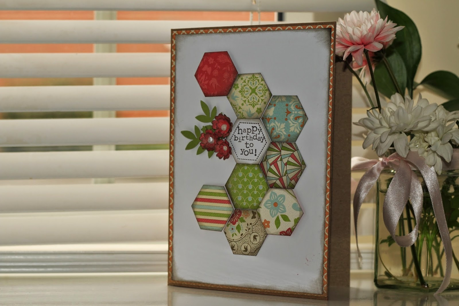 six sided sampler birthday card
