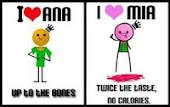 I love Ana // I love Mia