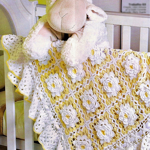 Yellow Flower Baby Blanket