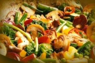 Verduras mixtas estilo oriental