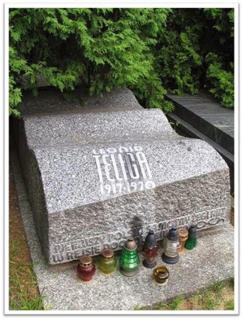 Grób Leonida Teligi na Cmentarzy Powązkowskim w Warszawie.