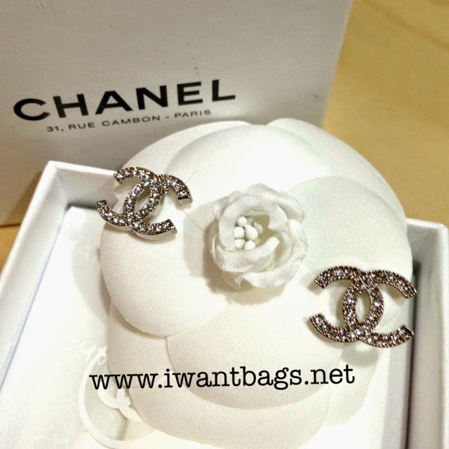 CHANEL Classic CC Logo Earrings (A42175) NEW ARRIVALS!  Sept 2014