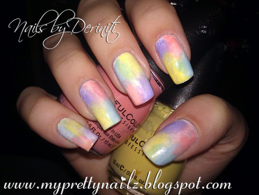 My Pretty Nailz 4 Color Instant Ombre Sponge Gradient Nail Art