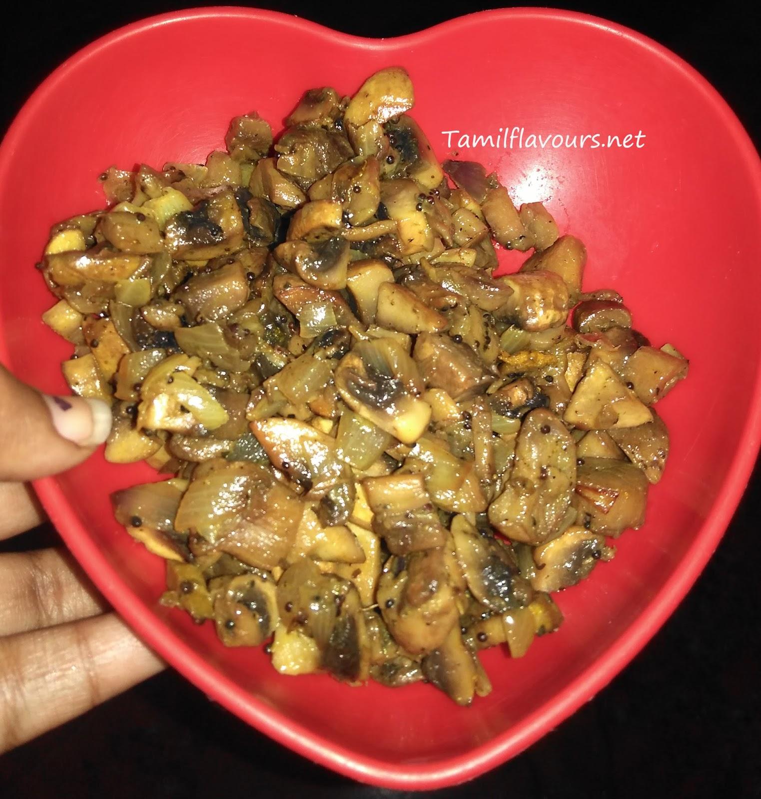 recipe: mushroom fry in tamil [6]