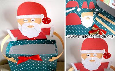 Lembrancinha de natal com reciclagem de caixa de leite
