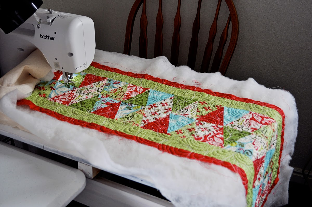 Inspiring creations christmas table runner finished