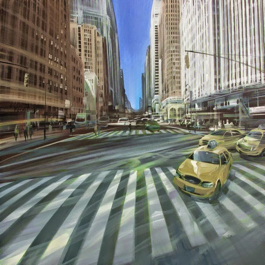 Kerdalo, 1962 ~ Urban street scene | Tutt'Art@ | Pittura ...