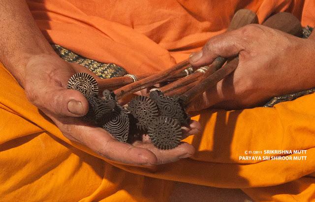 Saint of Krishna matt holding Shanka ckakra + udupi krishna