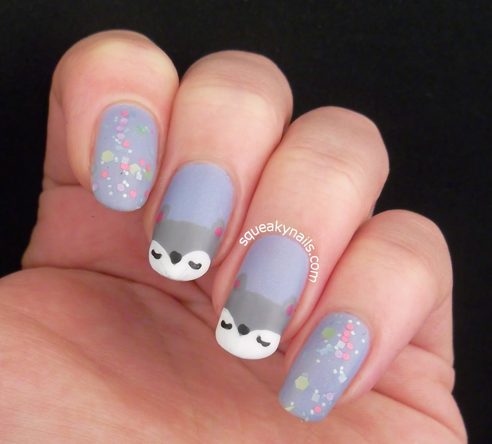 Nail Art Inspired by Clairey Lou Creations Fox Pillows | Squeaky Nails