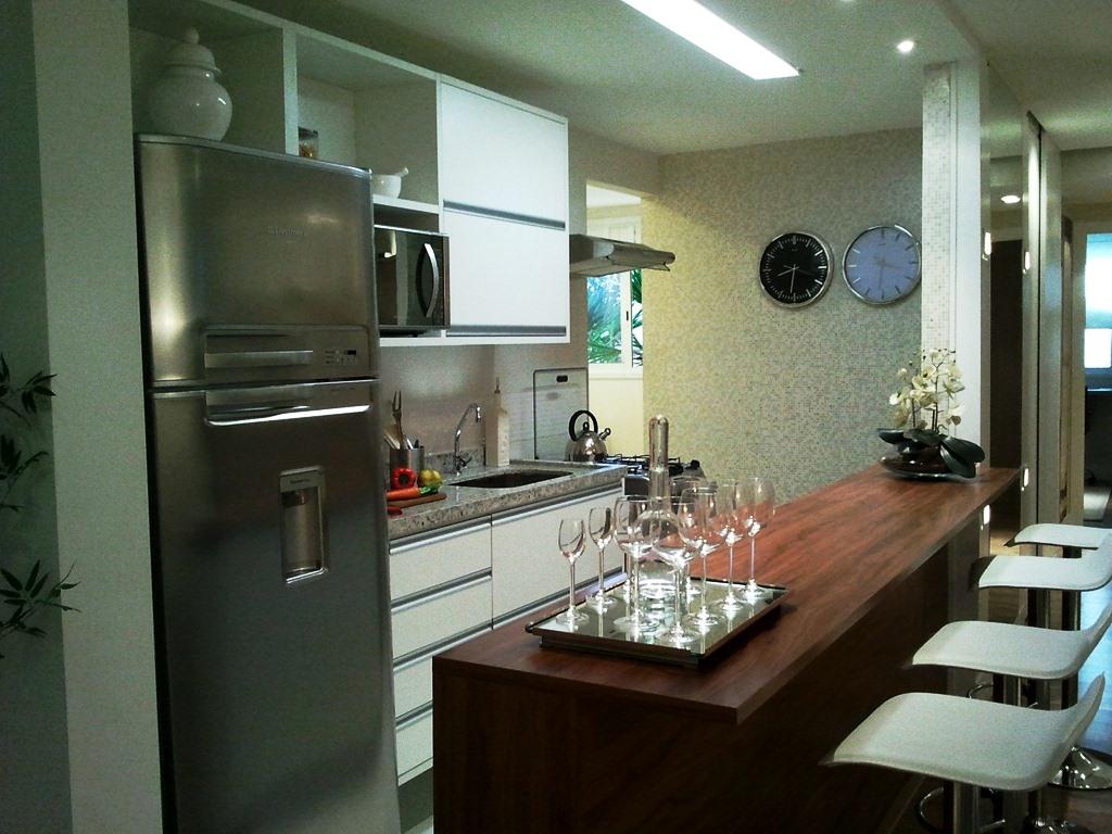 Tipos de cozinha americana  15 fotos e medidas para bancadas! Decor  #654935 1024 768