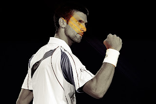 Novak Djokovic Black and White HD Wallpaper