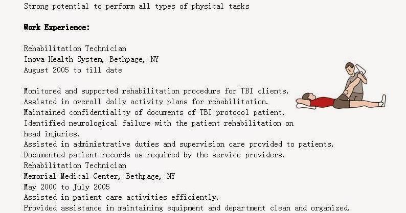 Resume rehab