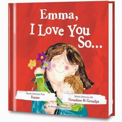 i love you so personalized book cover