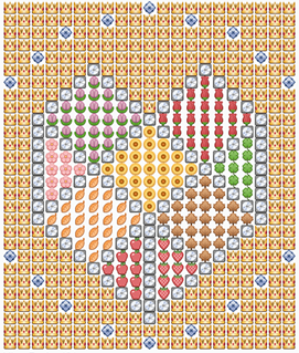 Jewel Emoticon Art for Facebook