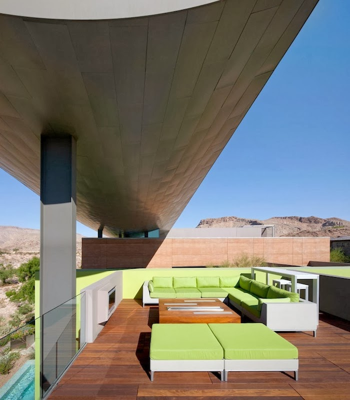 Roof terrace in Multimillion modern dream home in Las Vegas