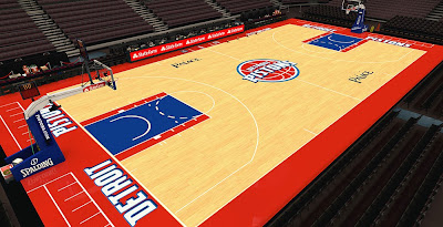 NBA 2K14 Pistons HD Court Mod