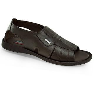 Sandália masculina tradicional em couro estilo mocassim