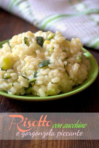 Risotto con zucchine e gorgonzola