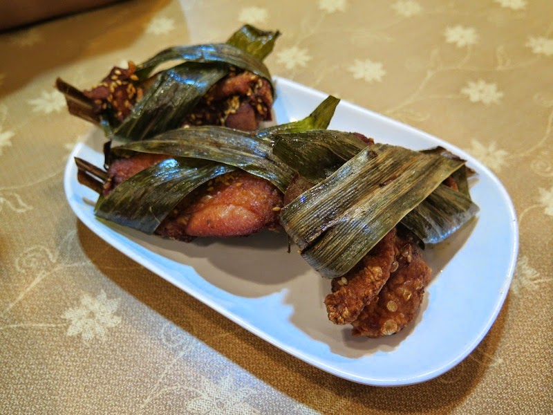 Fried pandan leaf wrapped chicken! A favorite since I was a child, I ...