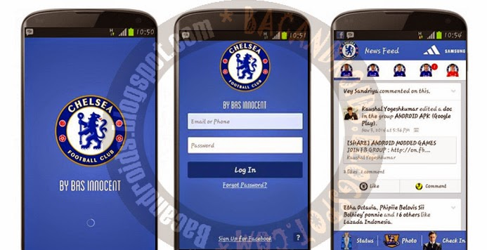 Aplikasi Facebook(FB) Mod Tema tampilan gambar background Chelsea Apk Gratis