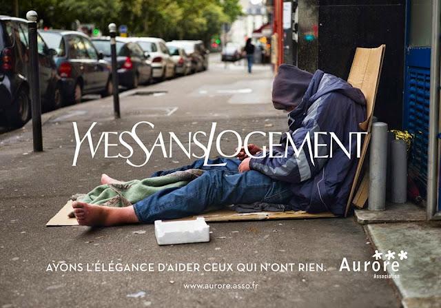 Les marques de luxe détournées dans une campagne choc pour les sans-abris #yvessanslogement #Ayonslélégance