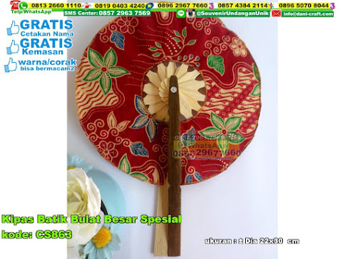 Kipas Batik Bulat Besar Spesial