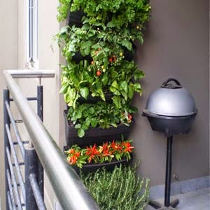 Balcony decorating ideas with plants for Balcony vertical garden