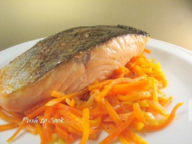 Филе сёмги с морковью