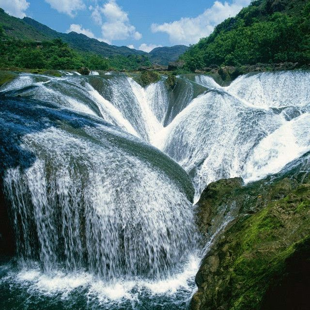 The Pearl Waterfall, China.