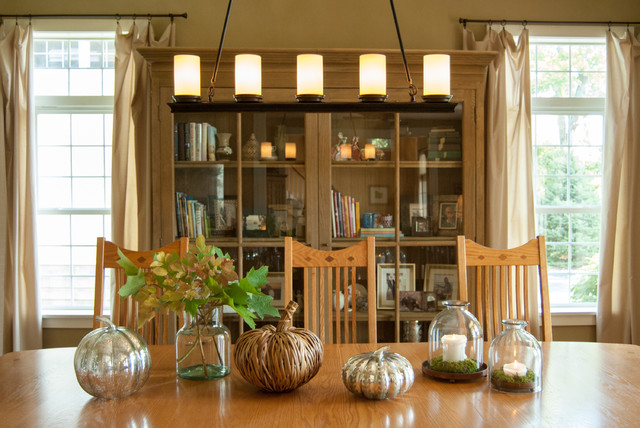 Comfortable View in the House with Wooden Dining Room Tables And Chairs under Iron Track Lamp