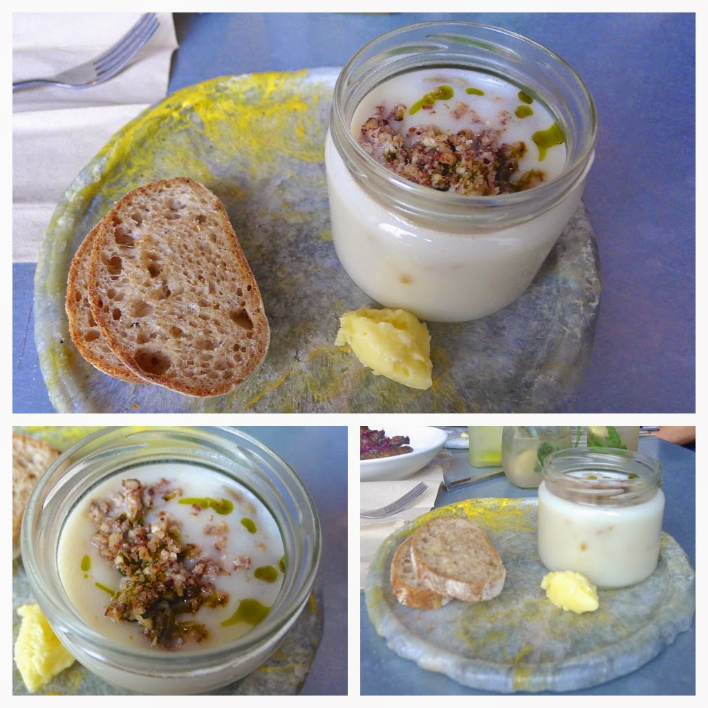 Cauliflower soup & hazelnut butter – served piping hot (and in a jam ...
