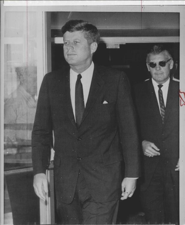 SAIC Gerald Behn with JFK August 1963